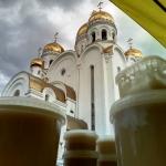 Ярмарка мёда на территории Храма Рождества Христова, г.Красноярск