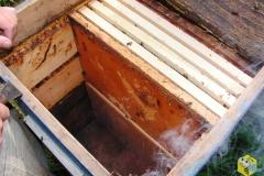 в 16-ти рамочных ульях стоит по 20 рамок. 10 гнездовых в первом корпусе, 6 во втором и 8 полурамок.