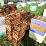 Пчеловодные рамки после перетопки