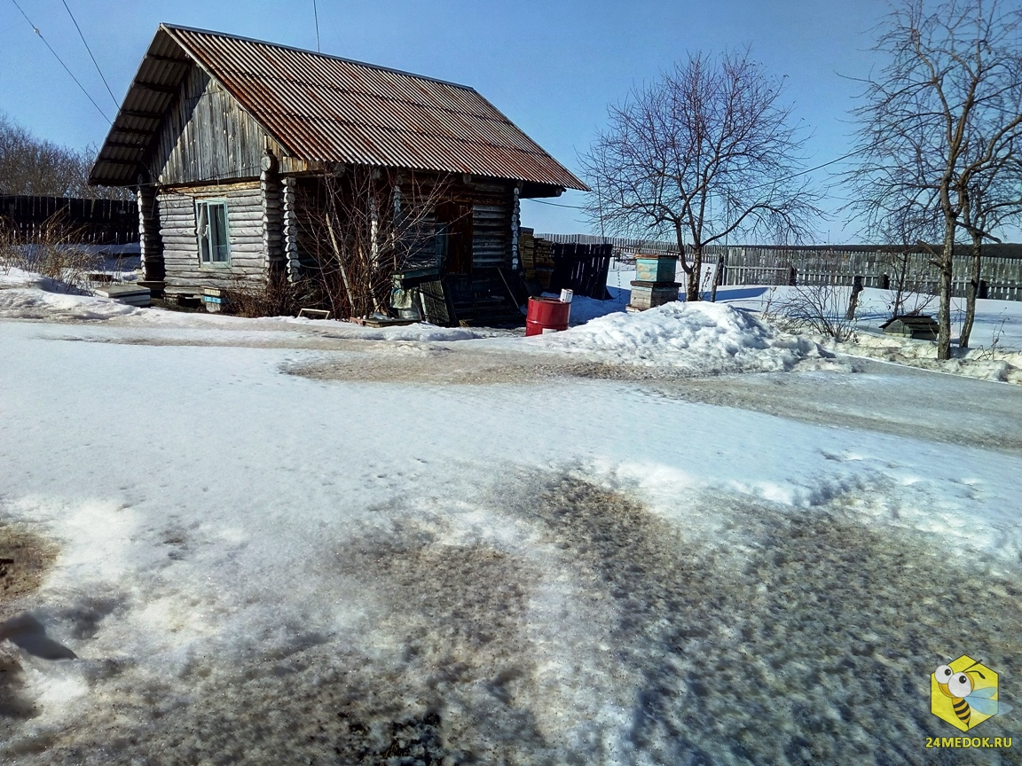 В с.Красный Завод снег только начал таять