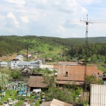 Вид на деревню Красный завод и наш двор
