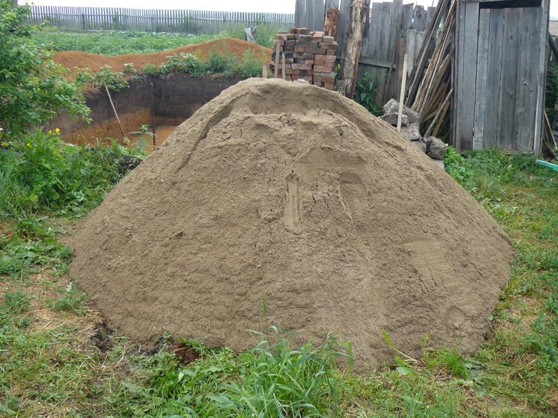 Накидали и привезли 4 тонны песка с Чулыма. Песок идеальный для раствора.