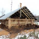 Строительство омшаника. Засыпаем перекрытия
