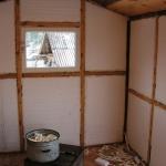 Утепление стен вагона пенопласт, пароизоляция