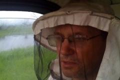 От комаров, мокреца, слепней помогает лишь пчеловодная сетка