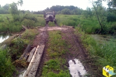 Горбатый мост, можно и слететь на мокрой дороге