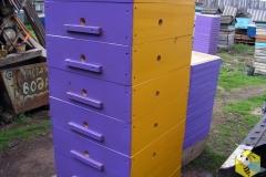 Нуклеус для вывода маток. 2 на 2 рамки. 2 на 3 рамки. Все стороны окрашены разным цветом