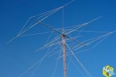 Антенна Яги 3 элемента на 40м. Поднята на 30 метров