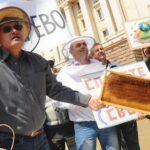 Протест пчеловодов в Болгарии