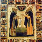 Святые Зосима и Савватий (икона XVI века)
