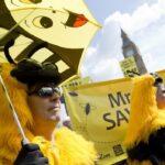 Протест против пестицидов в Британии