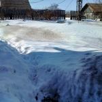 Снег садится