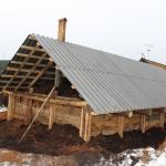 Строительство омшаника. Засыпали перекрытия