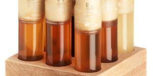 Мёд в пробирках от Bee-Raw