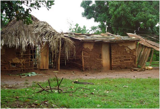 Фото 11. Дома-мазанки - основное жилище для жителей страны